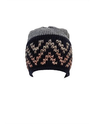 BEANIE WITH AZTEC BAND
