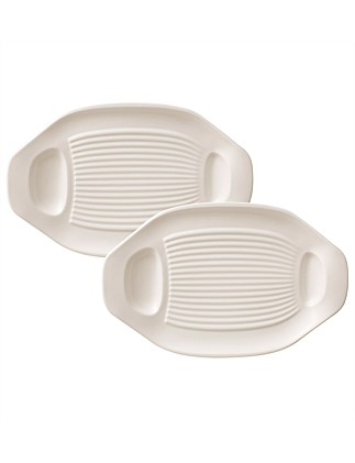 BBQ vegetable plate Set 2 pcs.