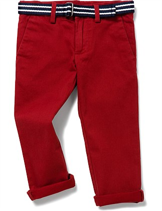 Belted Stretch Cotton Chino(2-7 Years)