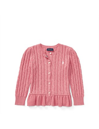 f4922ba0bd3 Cable Cotton Peplum Cardigan(2-7 Years). Polo Ralph Lauren