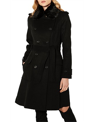 WOOL RICH TRENCH COAT