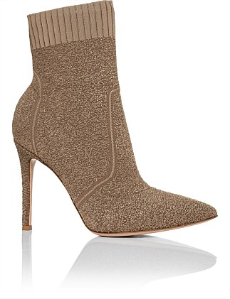 Knitted Pointed Ankle Boot