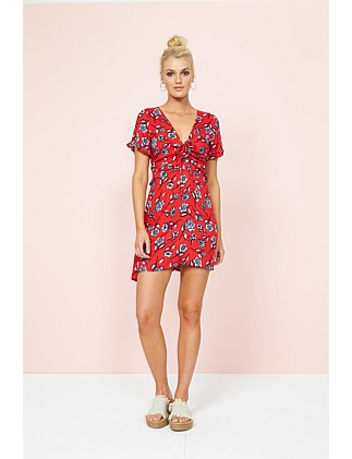 Red Blooms Dress