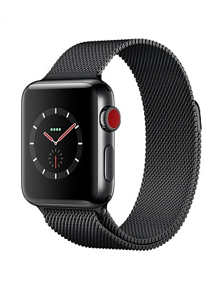 APPLE WATCH S3 GPS+CELL 38MM SPACE BLK CASE W MIL MR1Q2X/A