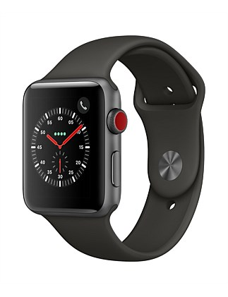 APPLE WATCH S3 GPS+CELL 42MM SPACE GRY W GRY SPT MR302X/A