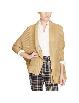 3/4 Sleeve Open Texture Cardigan