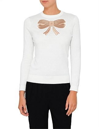 YASMYN BOW DETAIL JUMPER