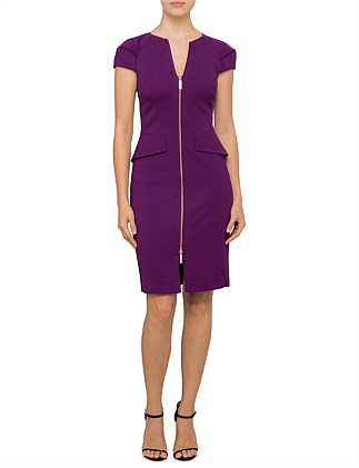 FIDELLE STRUCTURED PENCIL DRESS