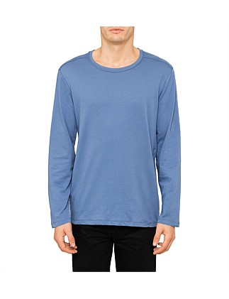 Zip Hem Plain Long Sleeve T-Shirt