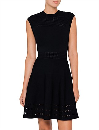 AURBRAY KNITTED SKATER DRESS