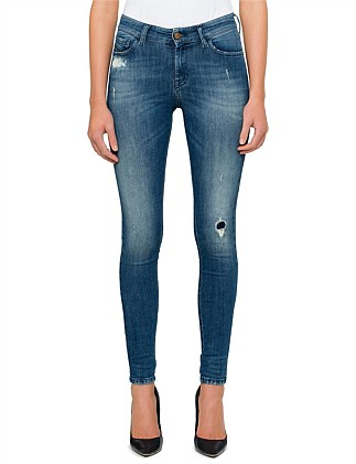 SLANDY MID RISE SUPER SKINNY 5 POCKET JEAN