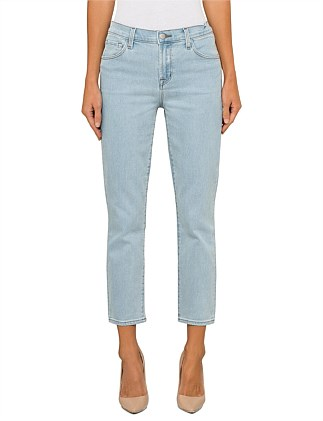 Ruby High Rise Crop -  Rigid Denim Vintage Blue