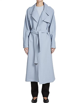 Crepe Drapey Trench