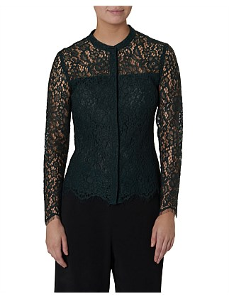 Ilia Crop Lace Shirt