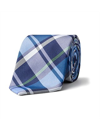 LARGE PLAID CHECK TIE