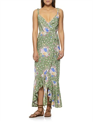 Eve Market Wrap Maxi Dress