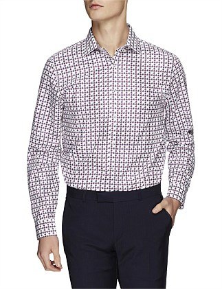 LS CHECK HOUNDSTOOTH KINGS FIT SHIRT