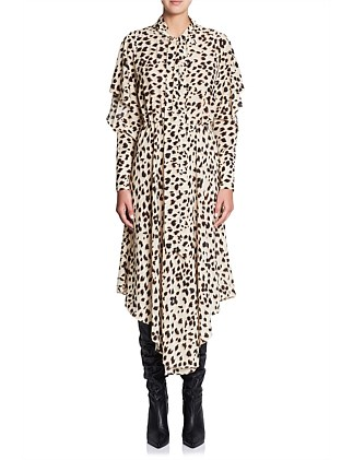 CHEETAH SILK DRESS
