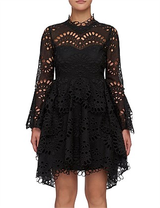 LEO EMBROIDERED DRESS