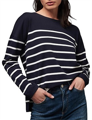Stripe Placement Top