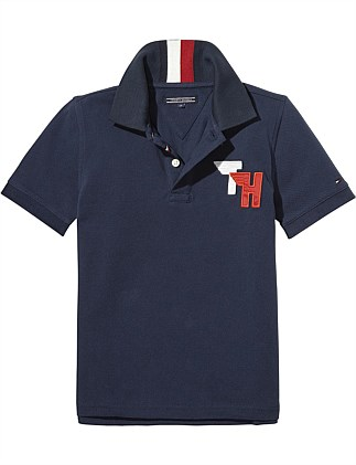 Ame Track Badge Polo S/S ( Boys 8-14 Years )