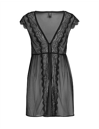 Sheer Lace Inset Gown