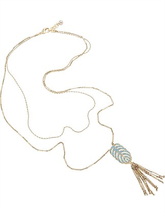 HIBISCUS TASSEL NECKLACE