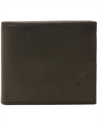 LEATHER BILLFOLD WITH COIN POUCH