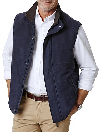 Suede Look Quilted Vest