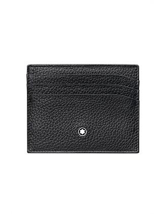 9080c4b51e9f Meisterstück Soft Grain Pocket Holder 6cc Black. Montblanc