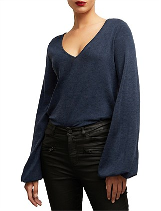 Slouchy V Neck Top
