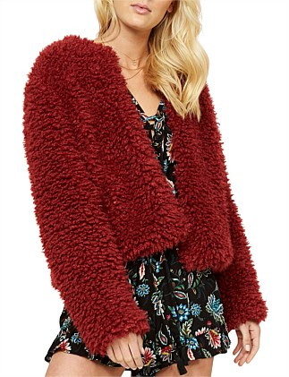 MARLOW FAUX FUR JACKET