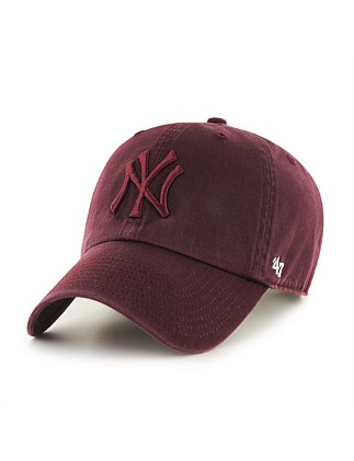 NY Yankees Dark Maroon Tonal '47 CLEAN UP
