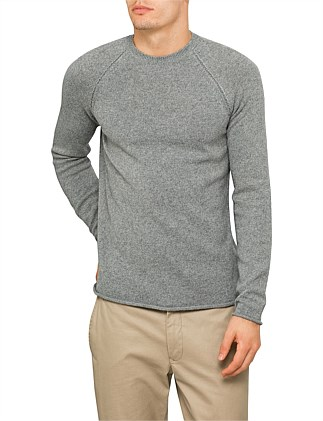 Seamed detail Crew neck knit