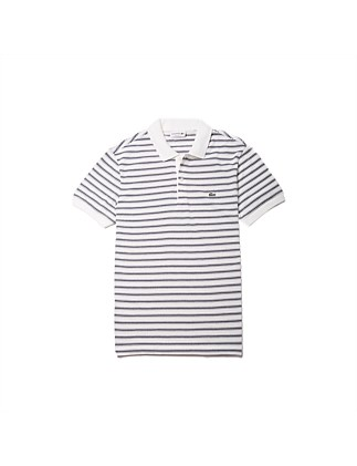 Med Ss Ribbed Collar Sleeve Polo
