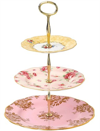 Royal Albert 100 Years 3 Tier Cake Stand 1960-1990