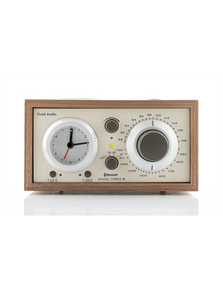 Model Three AM/FM Bluetooth Clock Radio - Walnut