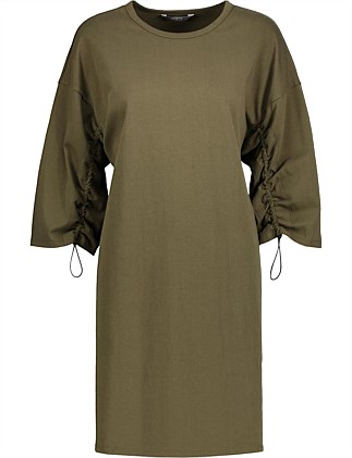 24fcbe871086 Drawstring Sleeve Shift Dress Special Offer