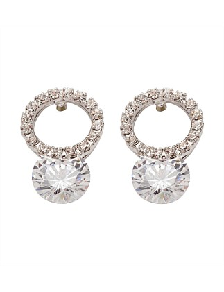 ROUND CZ EARRING