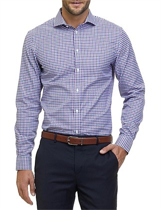 Slim Gingham Travel Shirt
