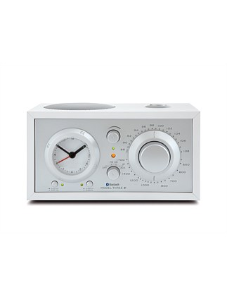Model Three AM/FM Bluetooth Clock Radio - White