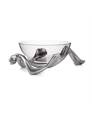 RECLINING GLASS BOWL AND STAND
