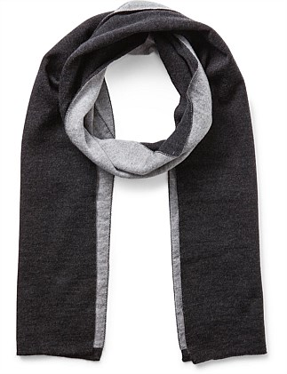 100% WOOL TWO TONE SCARF