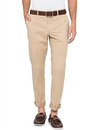 Cotton elastane mid fit chino