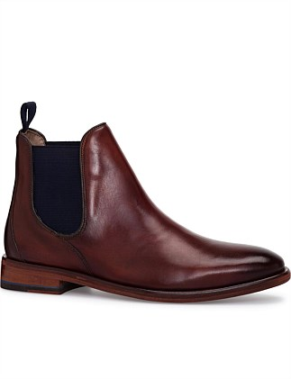 ANTIQUE CALF LEATHER CHELSEA BOOT