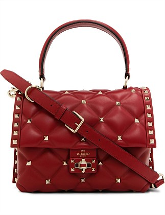 CANDY STUD SINGLE HANDLE LEATHER BAG