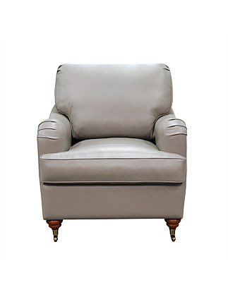 'Claire' Chair - Premium Dove Leather