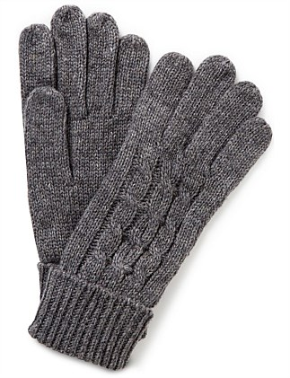 CABLE KNIT GLOVE