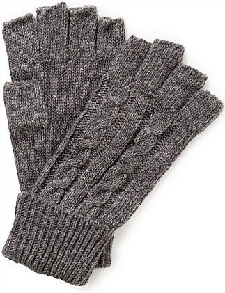 CABLE KNIT FINGERLESS GLOVE