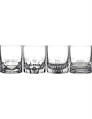 Waterford Short Stories Ogham Tumbler Set of 4
